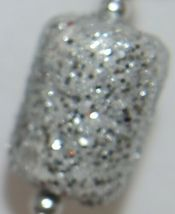 TII Collections Glittery Silver White Red Holiday Round Square Cylinder Spray image 5