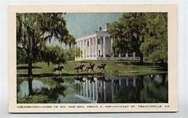 Greenwood  The Percy Home  Postcard St Francisville Louisiana - $11.88
