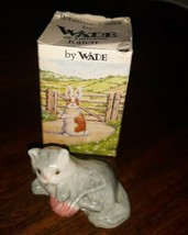 WADE England Vintage 1980s WHIMSIE-LAND Set One KITTEN 1984 Pets with Box  - $19.79