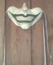 Smile Wall Mask Gothic Jester Clown Joker Renaissance Fool Circus Wall H... - $24.99