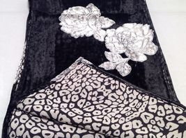 Gorgeous Combo Scarf Velvet and Satin floral vintage rose abstract color choice image 6