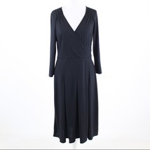 Black stretch ANN TAYLOR LOFT 3/4 sleeve A-line dress 8 - $29.99
