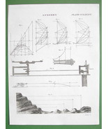 GUNNERY Apparatus for Measuring Projectiles Speed by Mattei- 1830 Antiqu... - $6.74