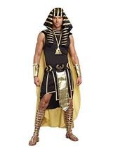 Dreamgirl Men's King of Egypt King Tut Costume, Black/Gold, Medium - £59.60 GBP