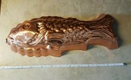 "Vintage Brass Hanging Copper Fish Jello Mold 12"" - $29.95"