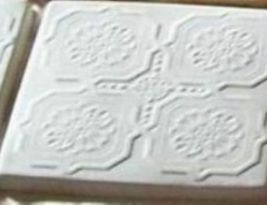 "DIY Victorian Design Tile Molds (6) Make 12"" Concrete Floor Tiles For $.30 Each image 2"