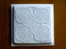 "DIY Victorian Design Tile Molds (6) Make 12"" Concrete Floor Tiles For $.30 Each image 3"