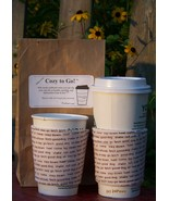 Cozy to Go Cup Wrap Dog Lover Print DSC1 - $10.00