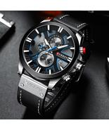 CURREN Fashion chronograph, leather band, casual, sport watches for men.... - $39.98