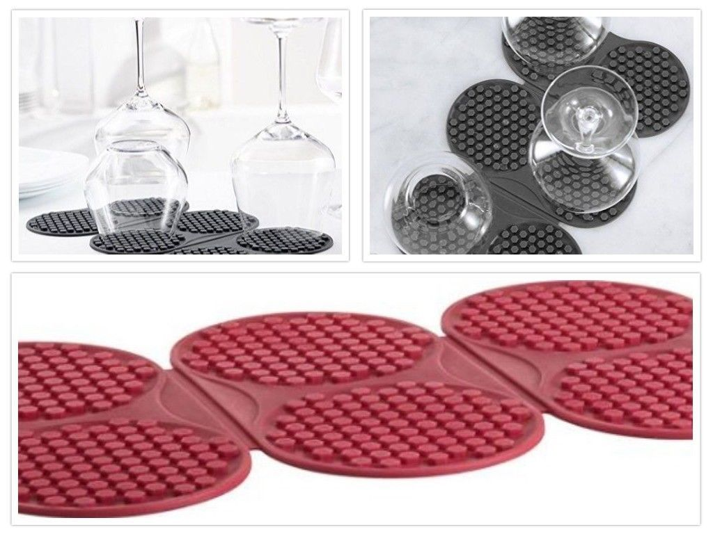 Primary image for Bottle Drying Mat Red or Black
