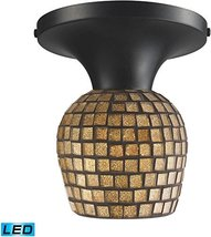 ELK 10152/1DR-GLD-LED, Celina Round Glass Semi Flush Ceiling Lighting, 1... - $124.00