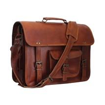Men's Genuine Vintage Leather Messenger Man Handbag Laptop Briefcase Sat... - $54.44
