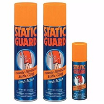 Static Guard Bonus Pack Spray 12.4 oz 2 Pack of 5.5 oz & 1 Pack of 1.4 oz