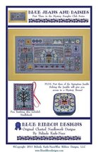Blue Jeans And Daisies PT 3 MYSTERY SAMPLER cross stitch Blue Ribbon Des... - $7.65