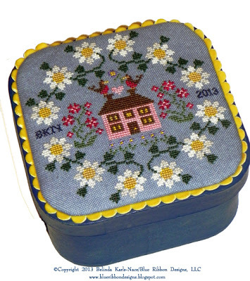 Blue Jeans And Daisies PT 3 MYSTERY SAMPLER cross stitch Blue Ribbon Designs