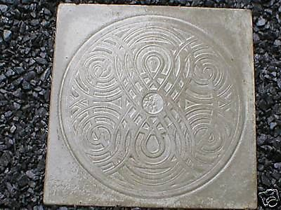 "Giant Celtic Knot Mold 22x22x3"" Makes Concrete Stepping Stones Tiles For $3 Each"