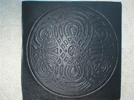 "Giant Celtic Knot Mold 22x22x3"" Makes Concrete Stepping Stones Tiles For $3 Each image 2"