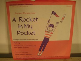 "Rocket in my Pocket Scholastic Spoken Word Poetry Record 33 1/3 7"" - $8.11"