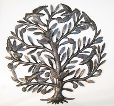 Garden Joy Birds in Tree Haitian Recycled Steel Metal Steel Drum Wall Art 3D - $91.03