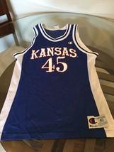 Kansas Jayhawks Blue Champion Jersey #45 Raef LaFrentz Aldrich Size 40 - $49.49