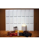 21 MOLDS + SUPPLIES MAKE 1000s OF 4x8 SMOOTH BRICK & SUBWAY TILES FOR PE... - $179.95