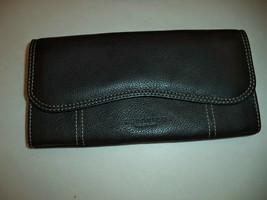 Kenneth Cole Genuine Leather Clutch Wallet,Black - $29.69
