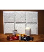 """Carved Slate Tile Making Kit w/6 Molds Make 100s 12""""x12"""" Tile Pavers for... - $199.99"""