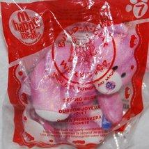 1 X McDonalds Happy Meal 2007 Build-A-Bear Workshop - Pink Spring Bear #7 - $1.40