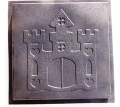 Whimsical Castle Stepping Stone Mold #1 Use Concrete Make 18x18 Stones F... - $42.99