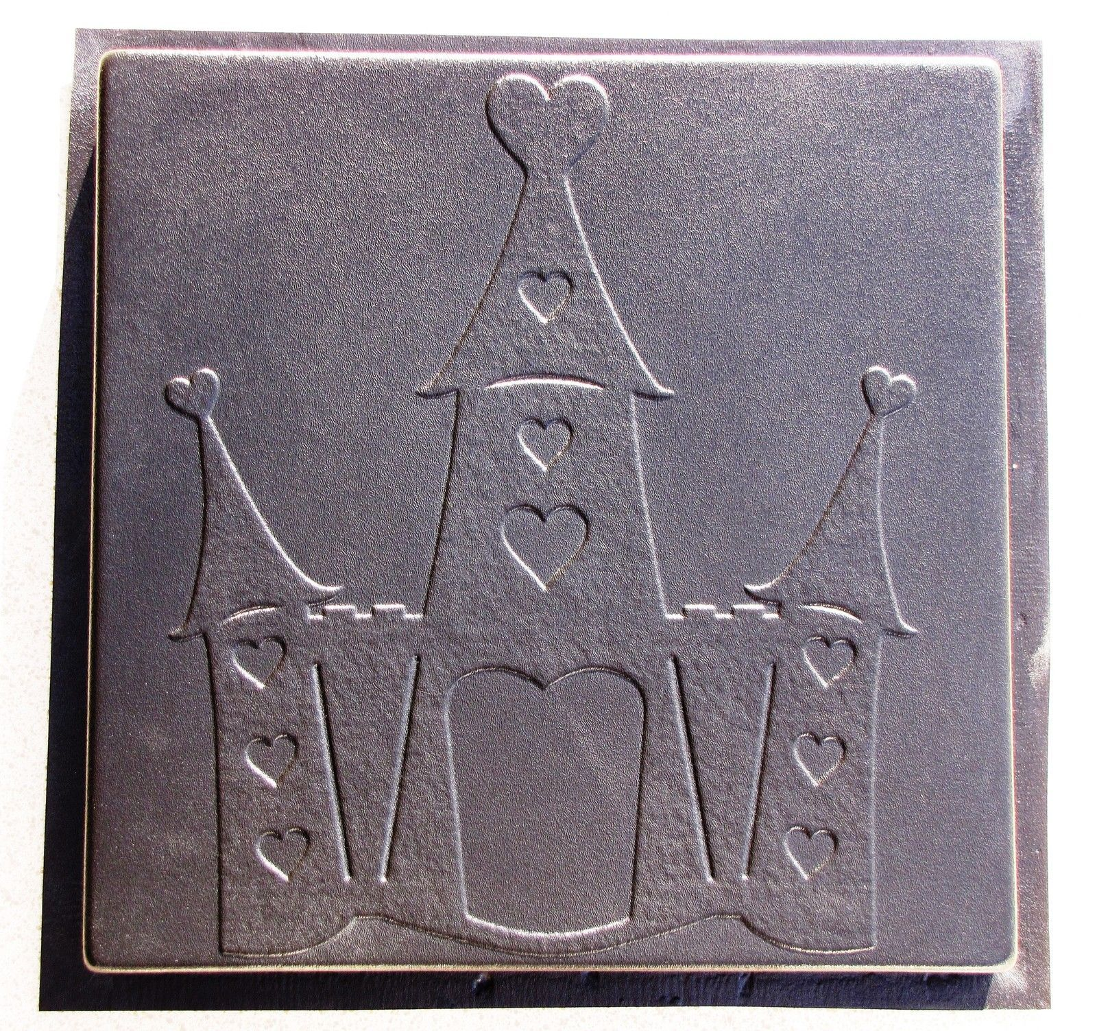 Whimsical Castle Stepping Stone Mold #2 Concrete Makes 18x18 Stones For $2 Each