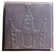 Whimsical Castle Stepping Stone Mold #2 Use Concrete Make 18x18 Stones F... - $42.99