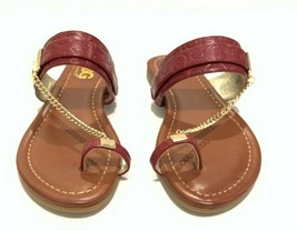 Guess GBG Los Angeles Loona Toe Thong Flat Sandals Red/Various Size - $29.99