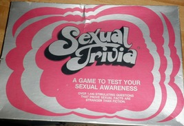 Sexual Trivia: A Game to Test Your Sexual Awareness - $12.00