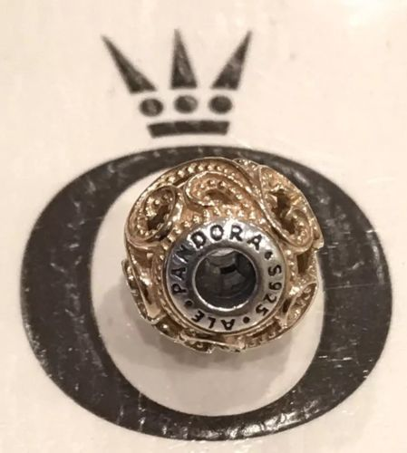 Authentic Pandora Creativity Charm Sterling Silver & Gold Essence Collection