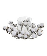 Cotton Artificial Arrangement Candelabrum Farmhouse Table Kitchen - $59.39