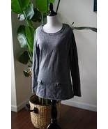 Max Studio Women's Long Sleeve Long Sweater Size L 100% Merino Wool Gray... - $23.74