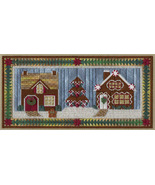 Two Gingerbread Houses counted canvaswork chart w/canvas From Nancy's Ne... - $23.40