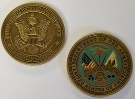 ORIGINAL Department of the US Army Defense Attache Office American Embassy Coin - $49.49