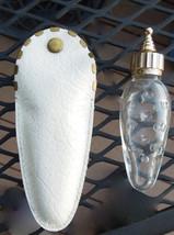 FRENCH Caron Hobnail Glass Poivre Travel Size Purse Perfume Bottle Origi... - $80.00