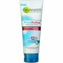 GARNIER PureActive Acne & Oil Clearing Foam 100ml-Fight acne and tighten... - $15.83