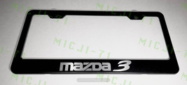 Mazda 3 Stainless Steel Metal License Plate Frame Rust Holder Free W/ Bolt Caps - $13.50