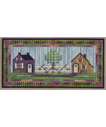 Two Cottages counted canvaswork needlepoint chart w/canvas From Nancy's ... - $15.30