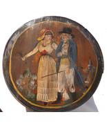 Antique German Pennsylvania decorated banded wooden brides box folk art ... - $460.00
