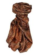 Jamawar Premium Silk Stole Pattern 4010 by Pashmina & Silk - $113.05
