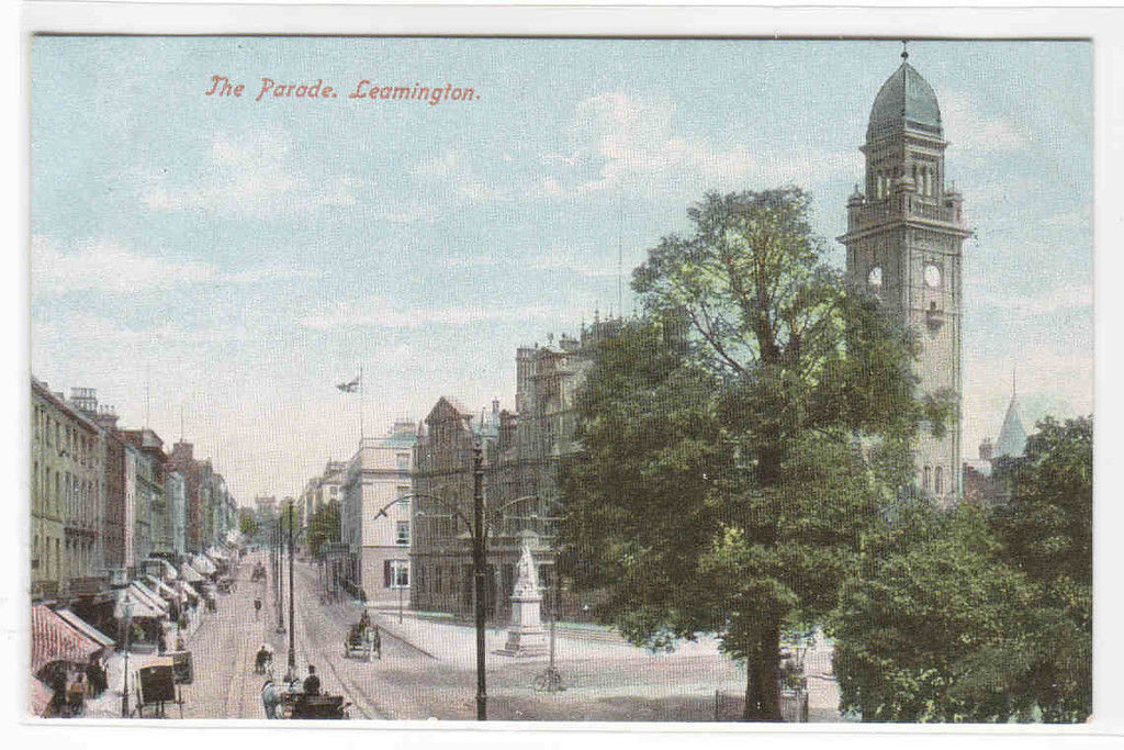 The Parade Leamington Spa Warwickshire England UK 1910c postcard