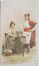 Singer Manufactuirng Co. 1892 Spain Valencia vintage trade card - $3.95