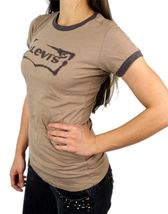 Levi's Women's Premium Classic Graphic Cotton T-Shirt Shirt Tee Brown image 3