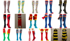 Wonder Woman,Harley Quinn,Batman,The Flash, Superman Comics Knee High Socks - $7.50+