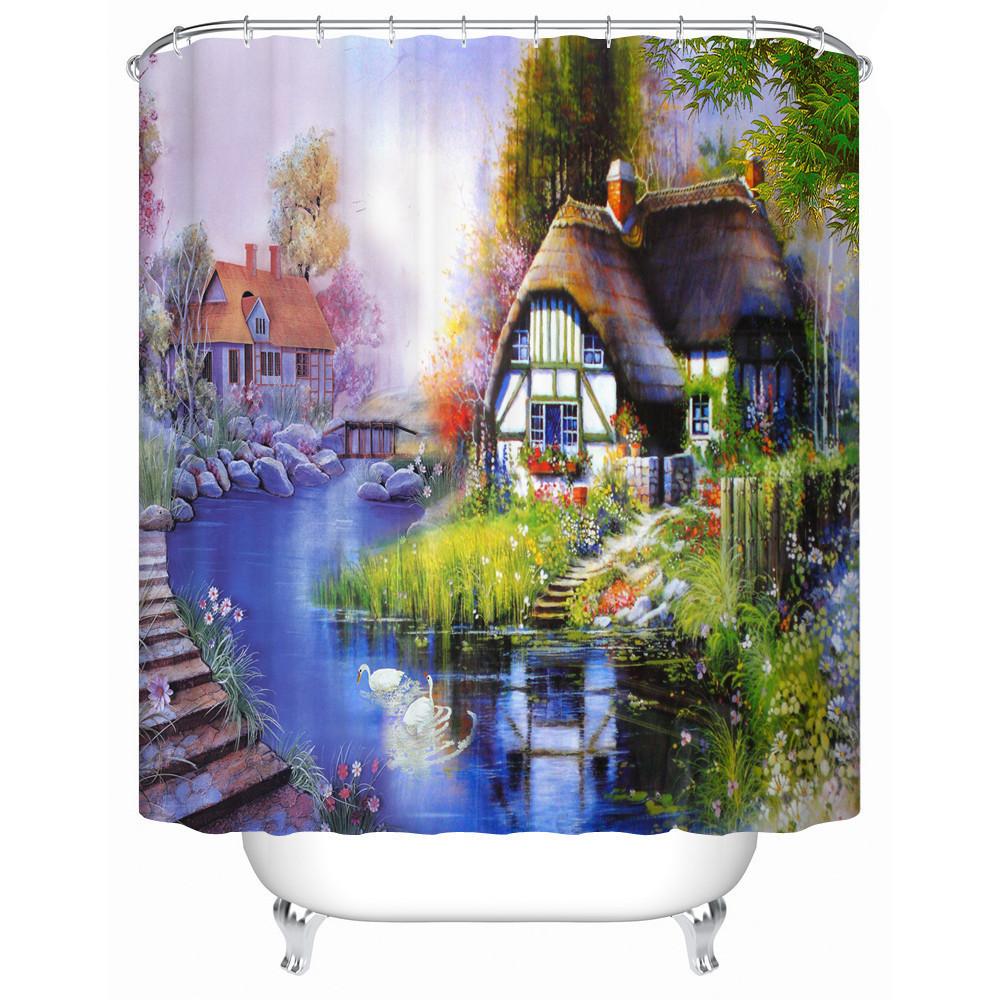 Ctical european style bathroom shower curtain bathroom curtain decorative home furnishings fj030