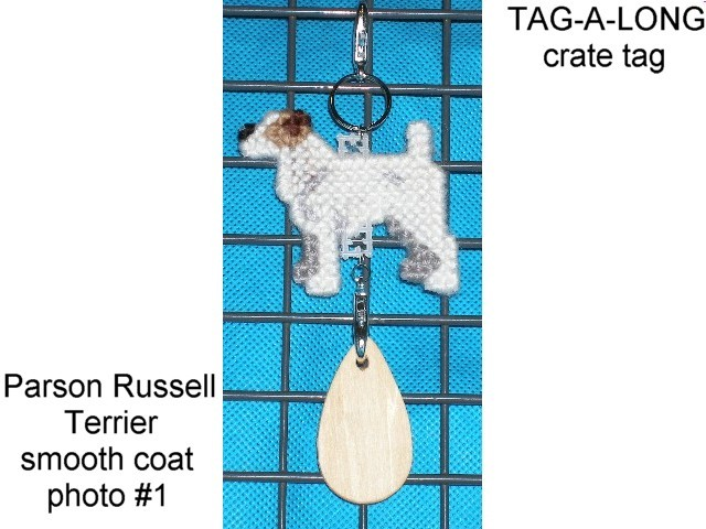 Parson Russell Terrier, Jack, dog crate tag or home decor art, hang it anywhere